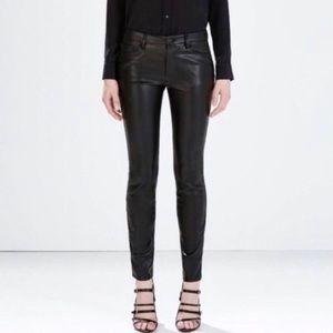 NWOT Zara Medium Rise Faux Leather Slim Fit Pants